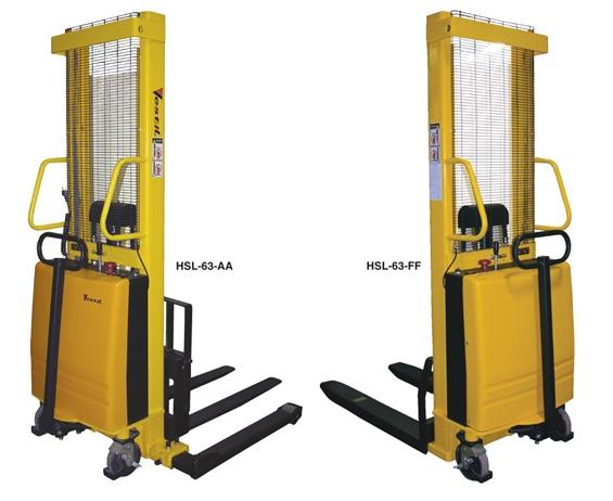 STACKER WITH POWERED LIFT